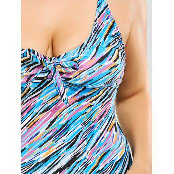 Padded Print Plus Size Tankini Set - 3XL 3XL