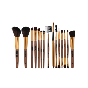 MAANGE 15Pcs Multifunction Makeup Brushes Set -  BROWN