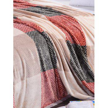 Plaid Printing Super Soft Sofa Nap Literature Throw Blanket - multicolorcouleur FULL