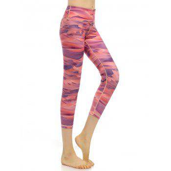 Quick Dry High Rise Funky Gym Leggings - L L