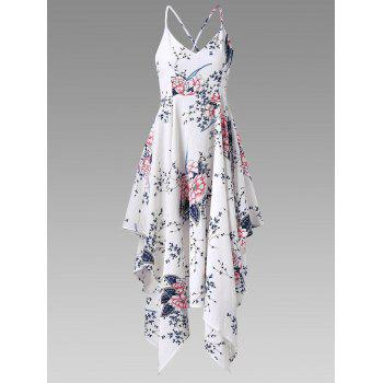 Criss Cross Tiny Floral Handkerchief Slip Dress