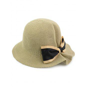 Breathable Woven Bowknot Embellished Bucket Hat