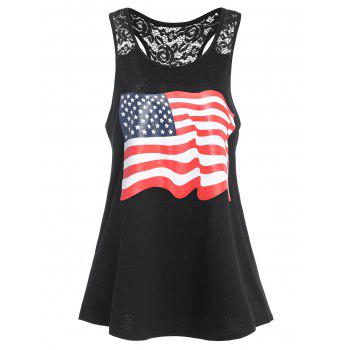 American Flag Graphic Racerback Patriotic Tank Top