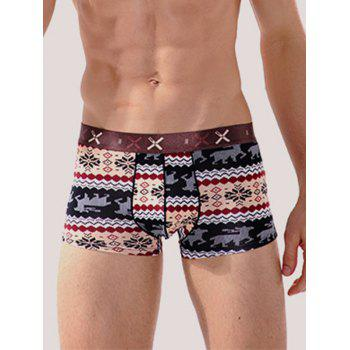 Tribal Printed Contour Pouch Boxer Briefs