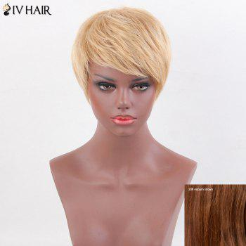 Siv Hair Layered Straight Short Inclined Bang Human Hair Wig