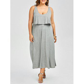 Ruffle Sleeveless Plus Size Maxi Dress