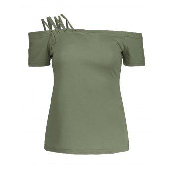 Lace Up Short Sleeve Tee