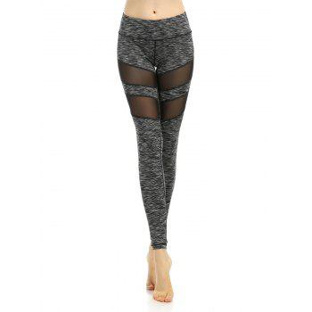 Mesh Panel Stripe Active Leggings