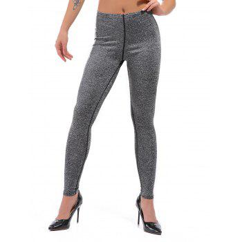 Active High Waisted Marled Knit Leggings