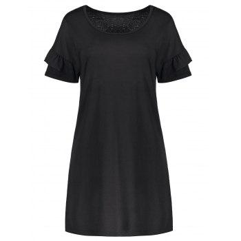 Scoop Neck Flounce Tee Dress
