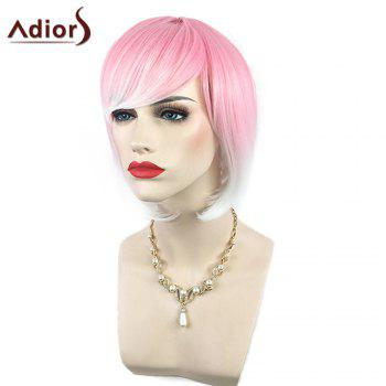 Adiors Side Bang Silky Straight Short Bob Colormix Synthetic Wig