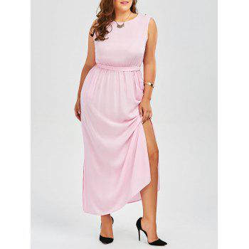 Plus Size High Slit Formal Maxi Dress With Pockets