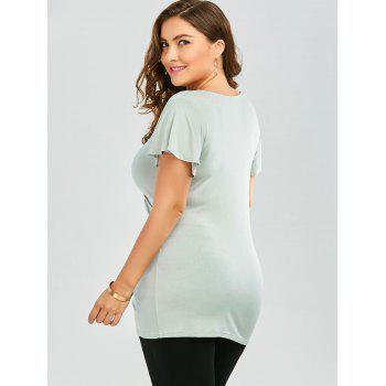 Plus Size Sequined Insert Ruched T-Shirt - 3XL 3XL