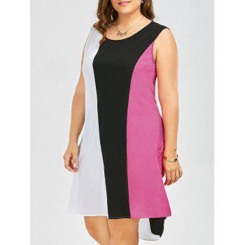 Sleeveless High Low Contrast Dress