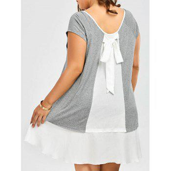 Plus Size Bowknot Detail Flapper Tee Dress