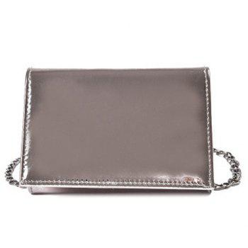 Metallic Flap Chain Crossbody Bag