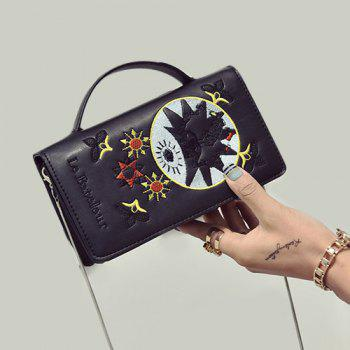 Snake Chain Embroidery Crossbody Bag