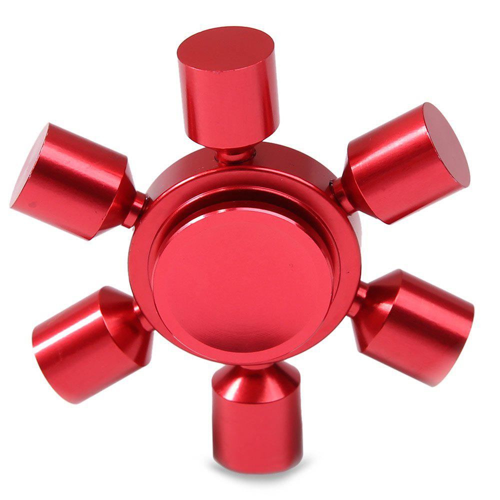 Focus Toy Rudder Fidget Metal Spinner - Rouge