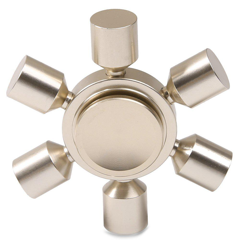 Focus Toy Rudder Fidget Metal Spinner - Argent