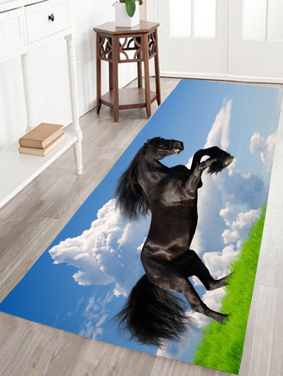 Fine Horse Print Skidproof Flannel Animal Bathroom Rug skidproof flannel bathroom rug with nightfall surfing print
