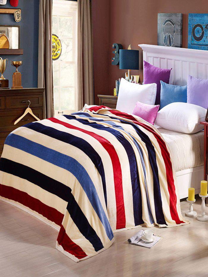 Stripe Super Soft Sofa Nap Bedding Throw Blanket - COLORMIX FULL