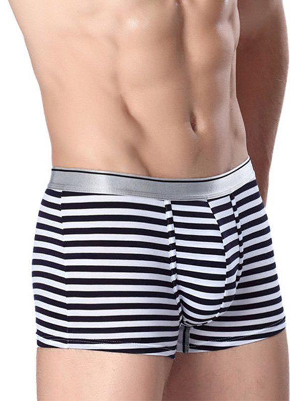 Stripe U Convex Pouch Boxer Briefs - WHITE 3XL