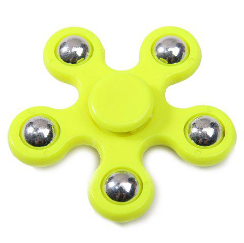 Floral Stress Relief Toy Hand Spinner Finger Gyro - YELLOW