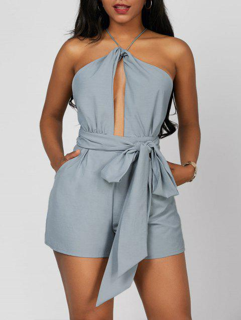 ed05ebe7afa LIMITED OFFER  2019 Halter Open Back Cut Out Sleeveless Romper In ...