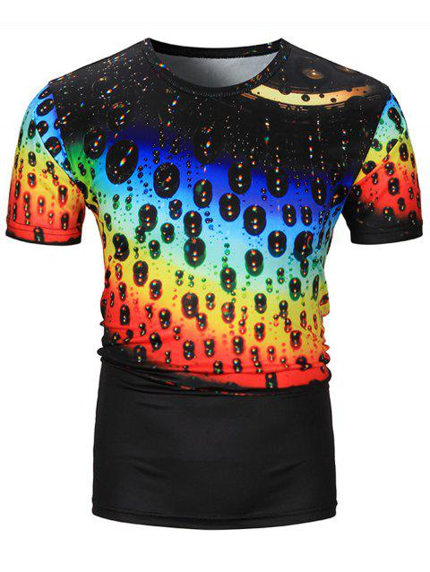 a9d93849a158 LIMITED OFFER  2019 3D Ombre Drop of Water Print T-Shirt In COLORMIX ...