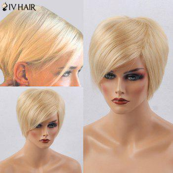 Siv Hair Short Silky Straight Side Bang Human Hair Wig
