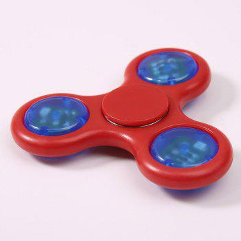 Spinner Rotatif Gyro Triangle Lumineux - Rouge Clair