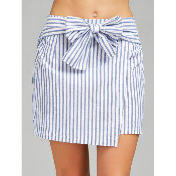Striped High Waist Mini Skirt