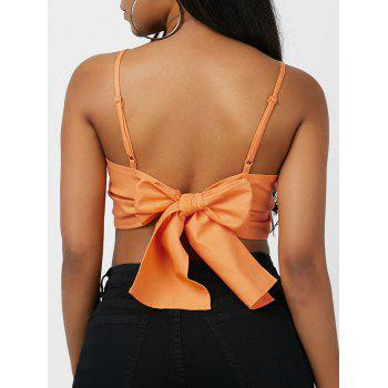 Back Self-Tie Cropped Camis