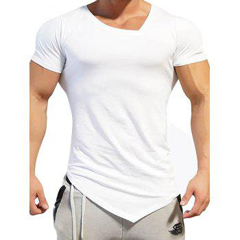 Asymmetric V Neck Tee