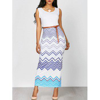 Zig Zag Sleeveless Bohemian Dress