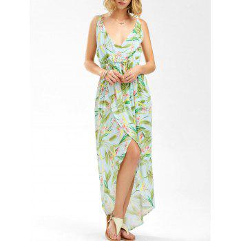Floral High Low Split Cami Dress
