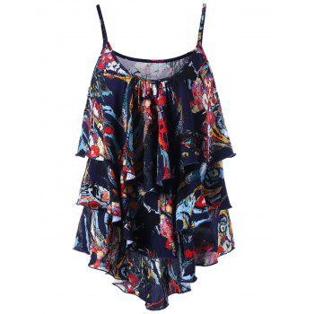 Layered Graphic Flowy Tank Top