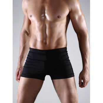 Tight-Fitting Stretch Swimming Trunks