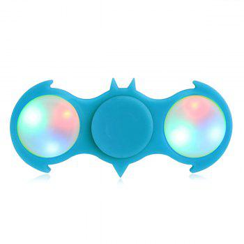 Colorful Flashing LED Lights Fiddle Toy Bat Fidget Spinner