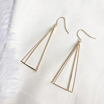Vintage Metal Geometric Triangle Hook Earrings