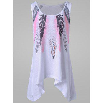 Plus Size Feather Tank Top