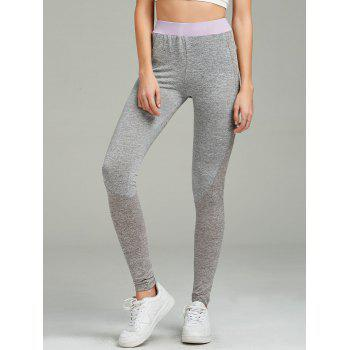 Color Block Ankle Length Gym Leggings