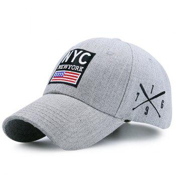 US Flag Letters Pattern Baseball Cap