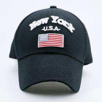 American Element Embroidered Baseball Cap - BLACK