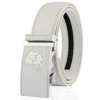 Metal Polished Buckle Horse Head Pattern Belt