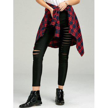 Skinny Ladder Cut Out Pants