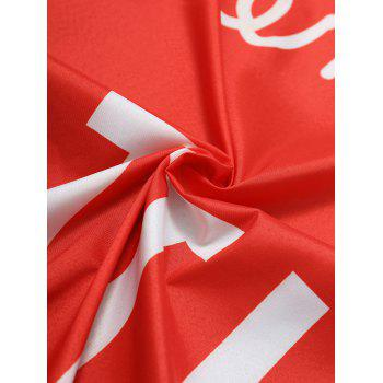 Fringe Coeur en forme de lettre Print Beach Throw - Rouge ONE SIZE