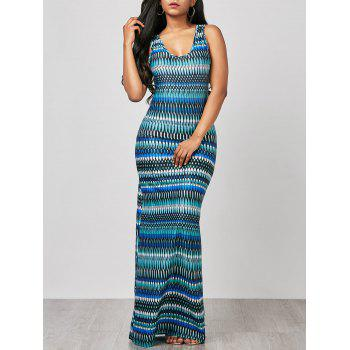 Sleeveless Ornate Print Maxi Beach Dress