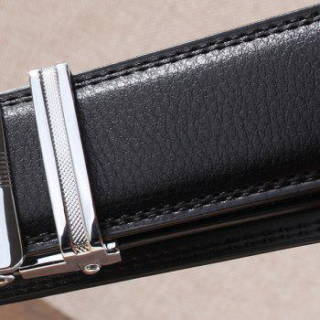 Automatic Buckle Leopard Head Carving Belt - SILVER/BLACK SILVER/BLACK