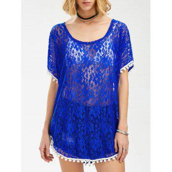 See Thru Lace Tunic Top